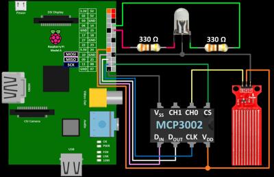 MCP3002 Wiring