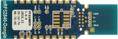 nRF52840 Dongle Backside