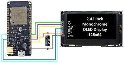 SSD1309 Wiring