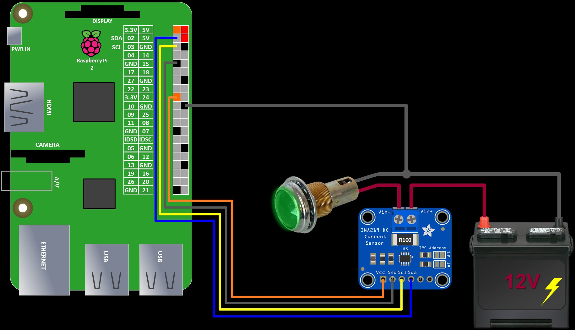 Raspberry Pi Ina219 Tutorial Rototron Current Sensing Relay Circuit Schematic