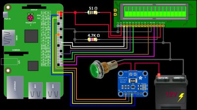Schematic INA219 & LCD