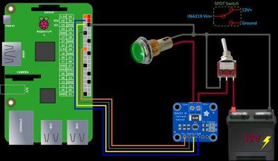 Schematic with SPDT Switch