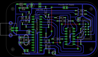 USB ISP Board Drawing