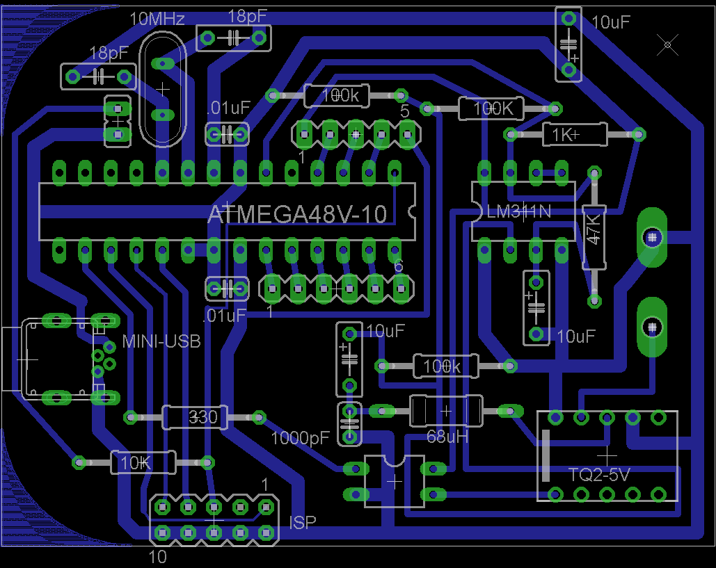 Inductance Meter Rototron Circuit Board Drawing