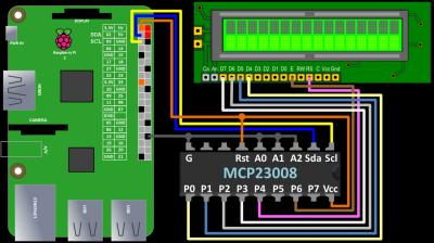 MCP23008 Wiring
