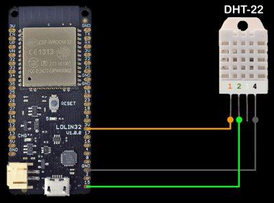 DHT-22 Schematic