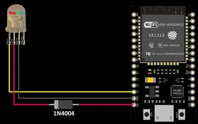 ESP32 NeoPixel Schematic