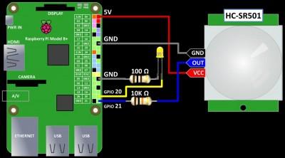 HC-SR501 wiring