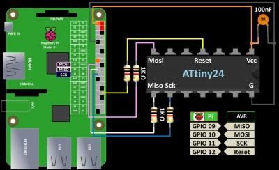 AVR Programming Wiring