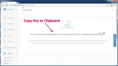 Copy Key to Clipboard