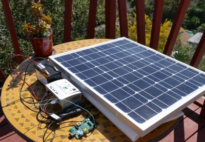 Hooked up to Solar Panel