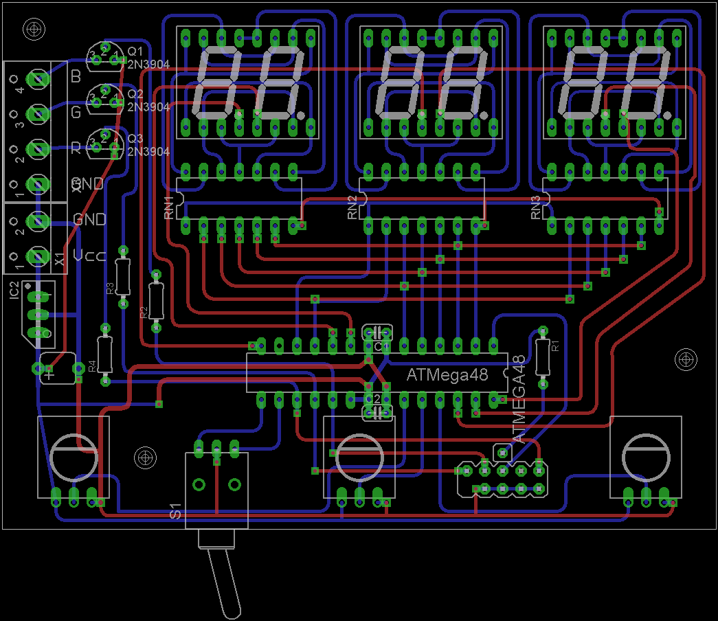 Rgb Led Circuit Rototron Fashion Lighting Controller Schematic Circuits Rainbow Board Drawing