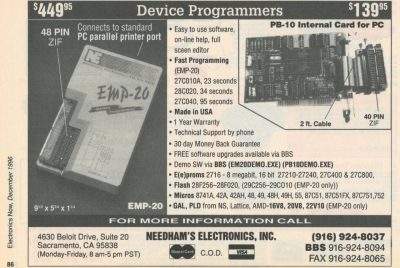 Needham's Electronics Programmers Ad